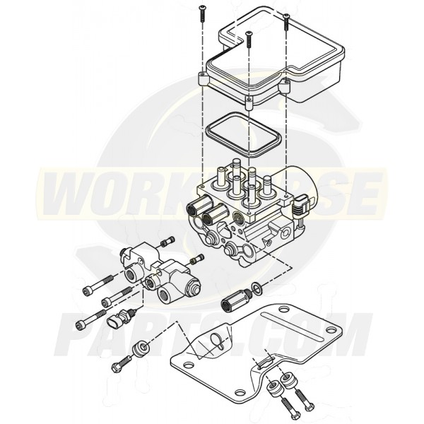 W8000548R  -  REMAN ABS Control Unit - ABS, Combo Valve (No Bracket)