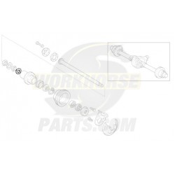 12389922  -  Retainer - Rear Outer Wheel Bearing