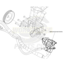 W0006555 - Pump Asm - Power Steering (4.22 Gallons Per Minute)
