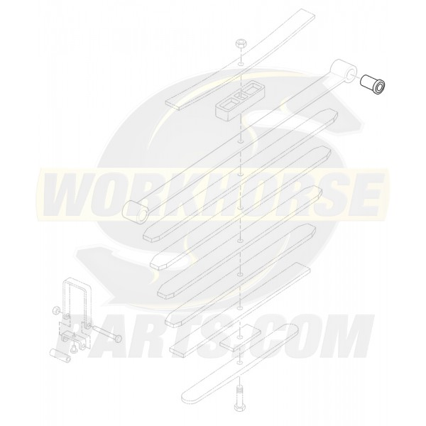 00468454  -  Bushing Asm - Rear Spring Front Eye