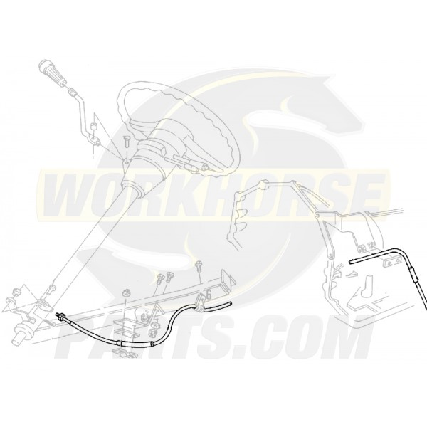 12381907  -  Cable Asm - Automatic Transmission Range Selector Lever