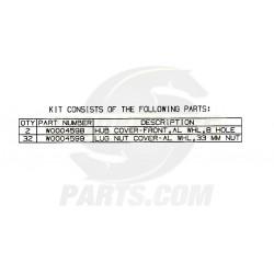 W0003352  -  Kit-front Hub & Lug Nut Cover